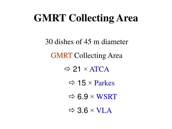 GMRT Collecting Area