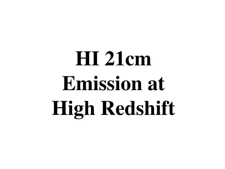 HI 21cm