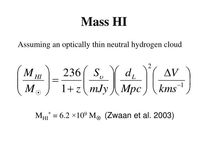 Mass HI