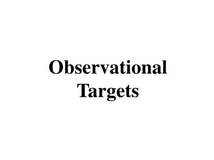 Observational