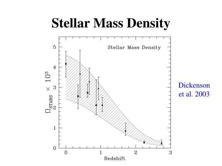 Stellar Mass Density