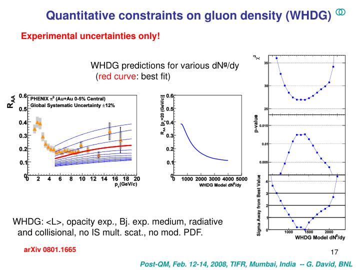 Quantitative constraints on gluon density (WHDG)