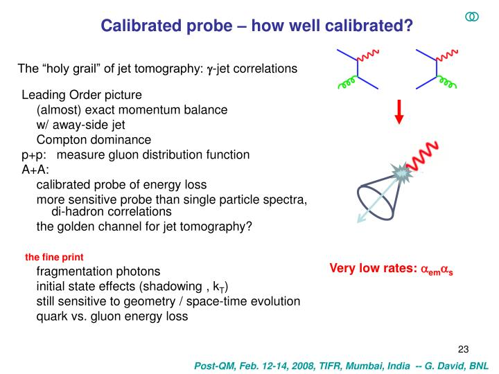 Calibrated probe – how well calibrated?