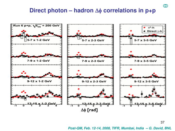Direct photon – hadron
