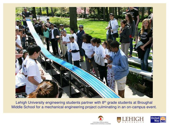 Lehigh University engineering students partner with 8