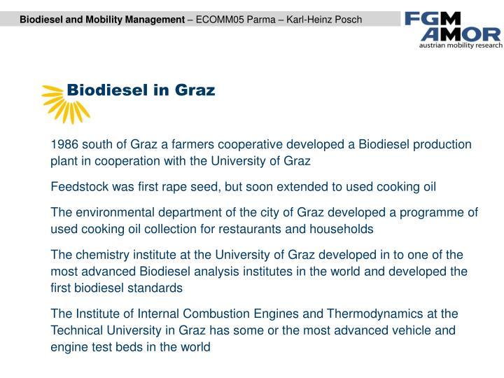Biodiesel in Graz