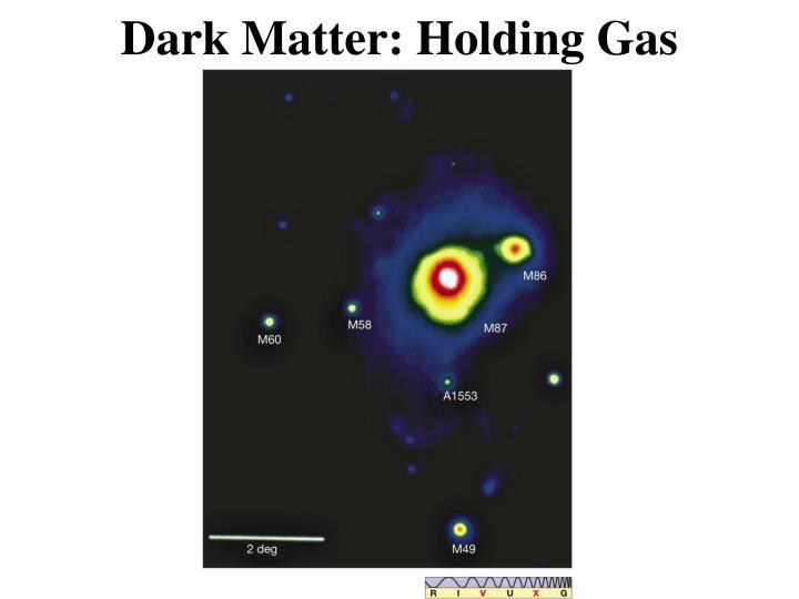 Dark Matter: Holding Gas