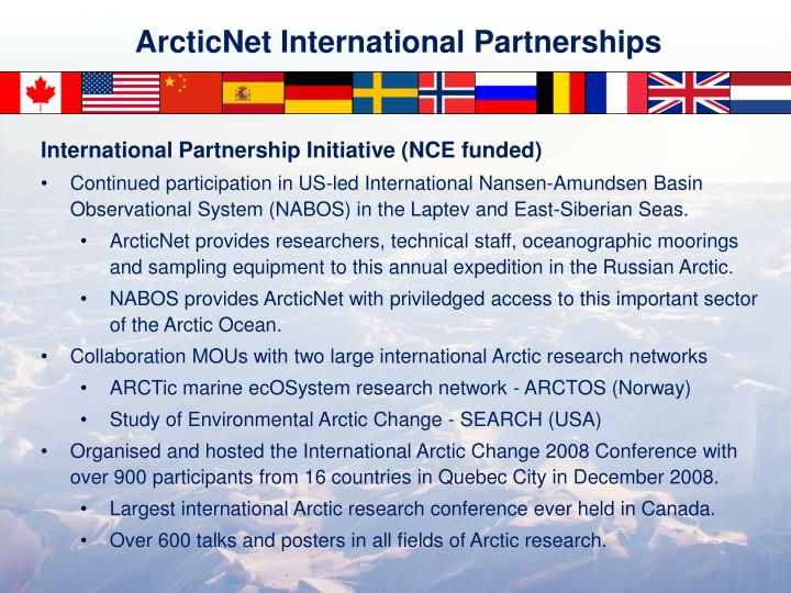 ArcticNet International Partnerships