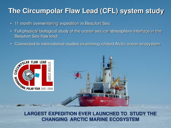 The Circumpolar Flaw Lead (CFL) system study