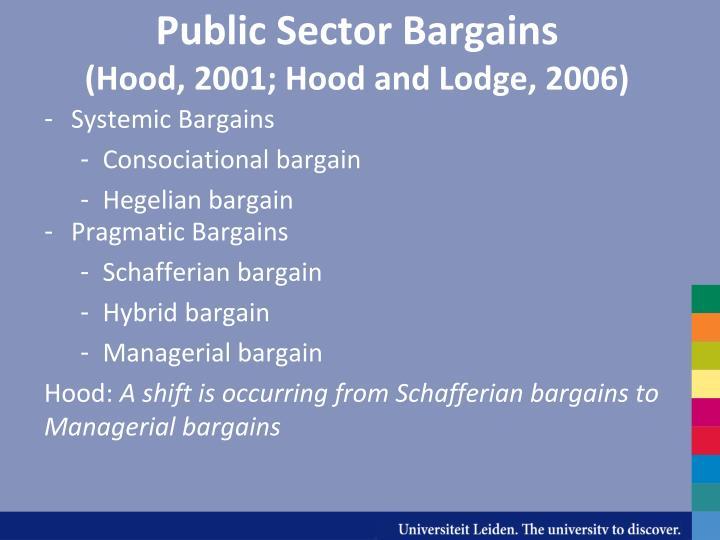 Public Sector Bargains