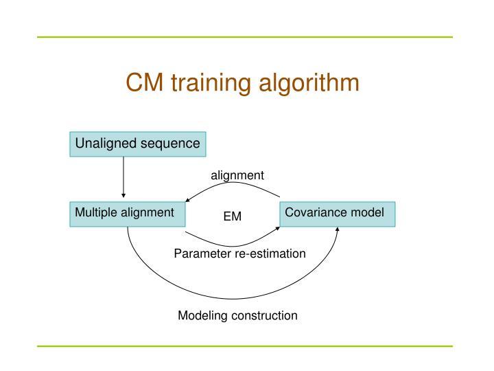 CM training algorithm