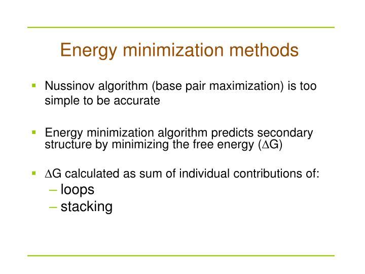 Energy minimization methods
