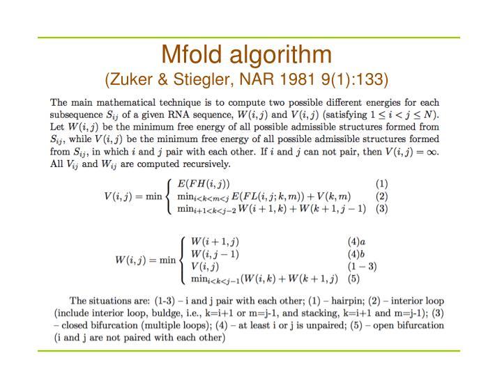 Mfold algorithm