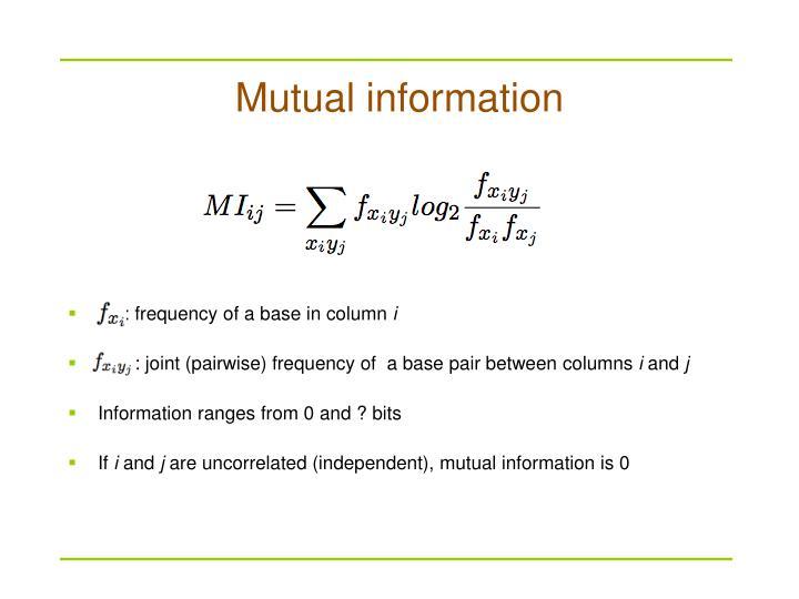 Mutual information