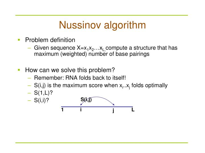 Nussinov algorithm