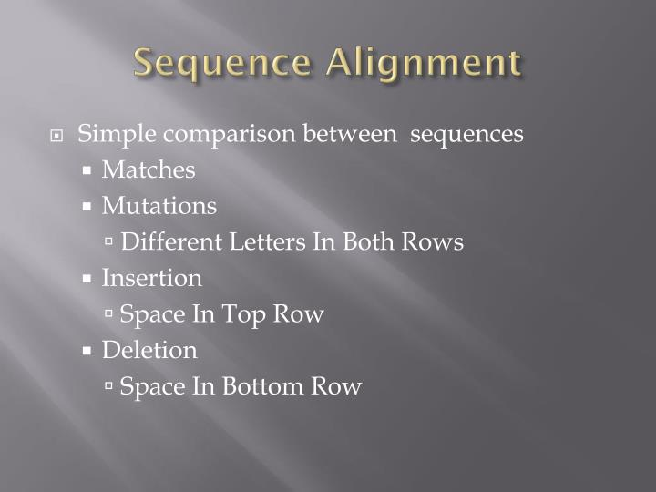 Simple comparison between  sequences