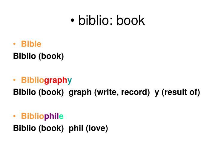 biblio: book