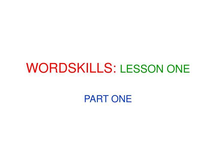 WORDSKILLS: