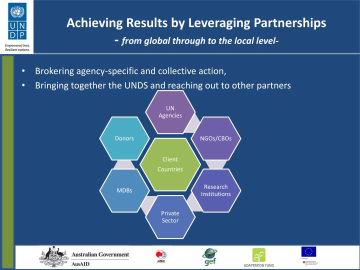 Achieving Results by Leveraging Partnerships