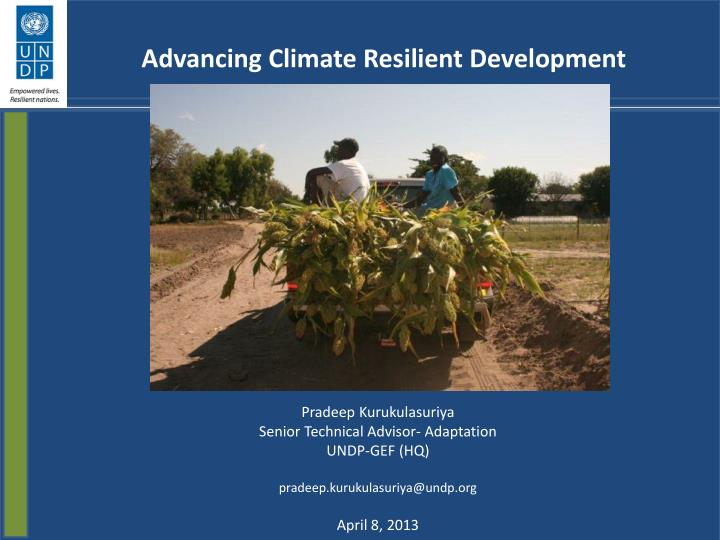 Advancing climate resilient development