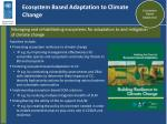 ecosystem based adaptation to climate change