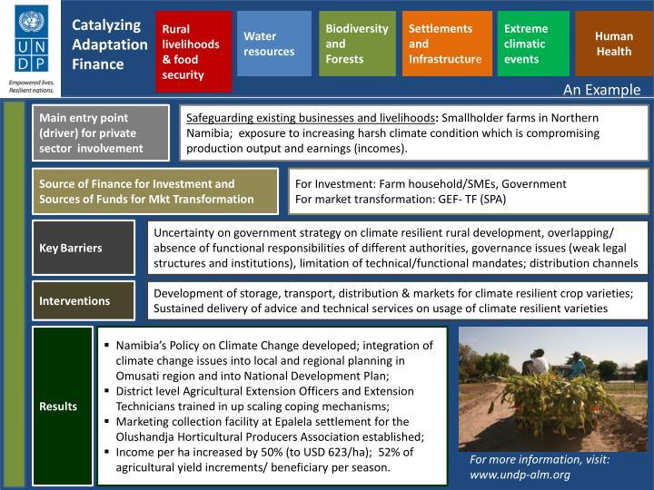 Rural livelihoods & food security