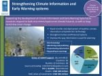 strengthening climate information and early warning systems
