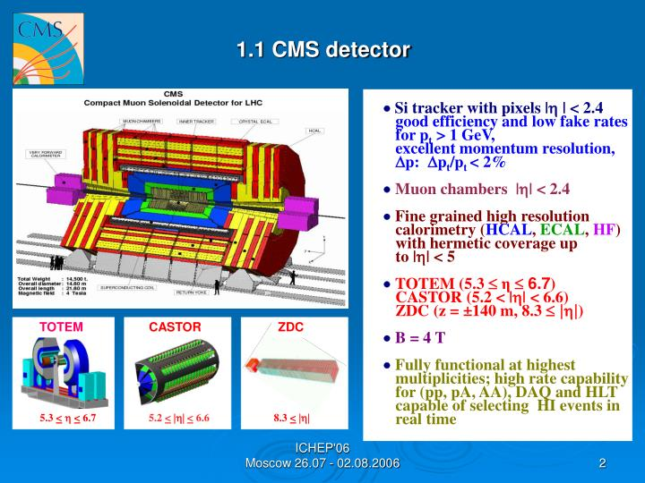 1.1 CMS detector