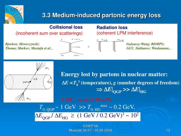3.3 Medium-induced partonic energy loss