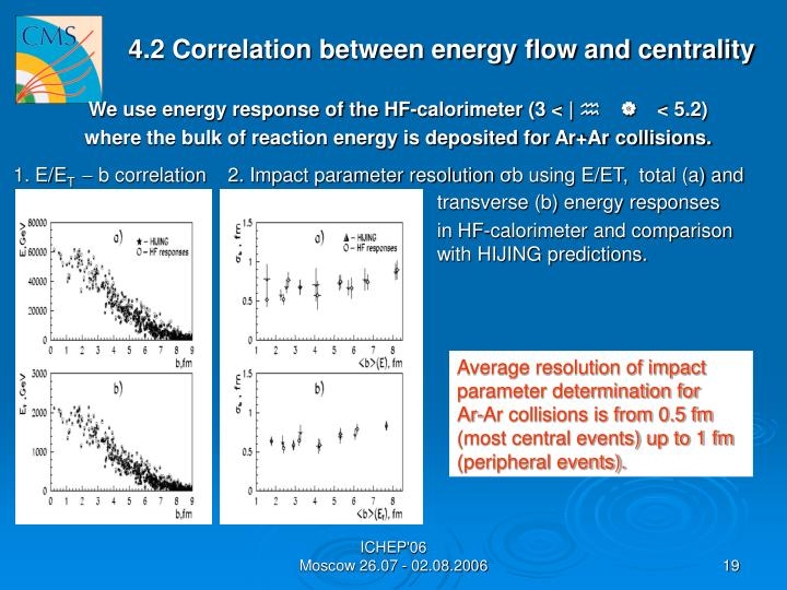 4.2 Correlation between energy flow and centrality