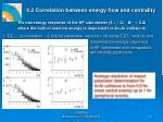 4 2 correlation between energy flow and centrality