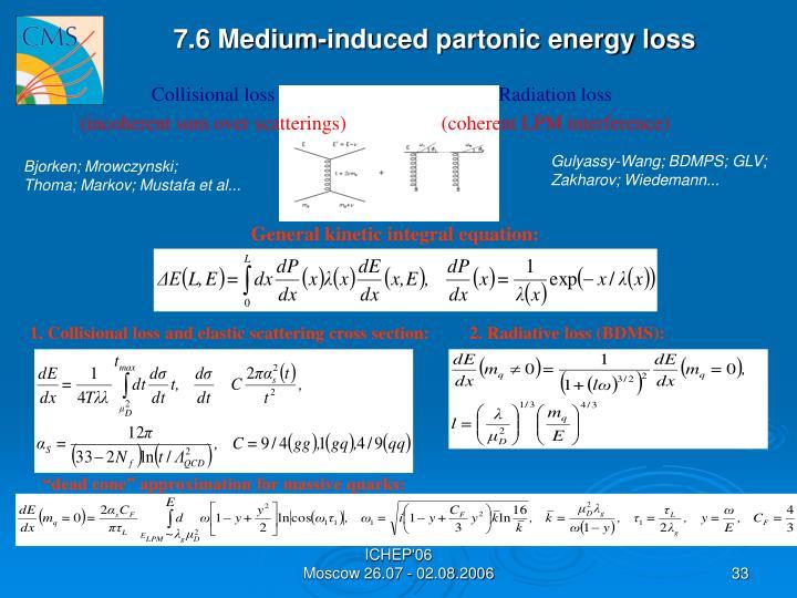 7.6 Medium-induced partonic energy loss