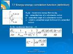 7 7 energy energy correlation function definition