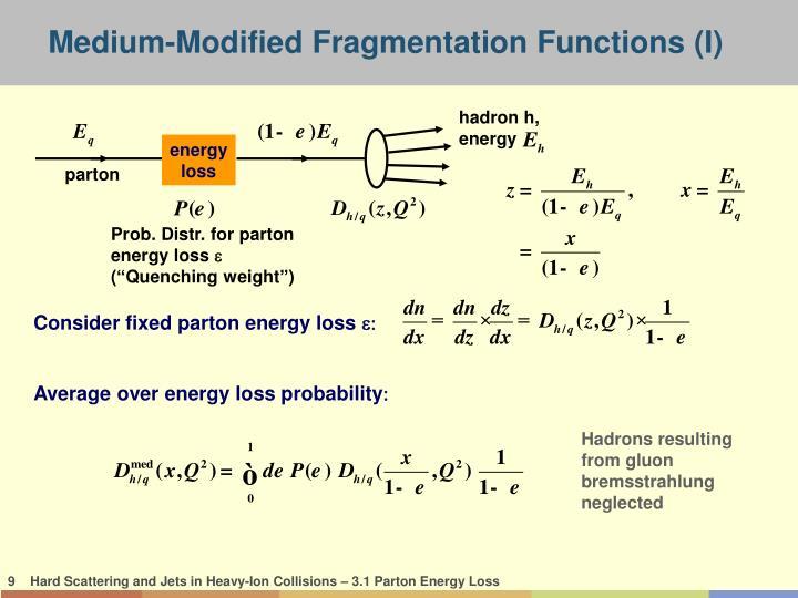 Medium-Modified Fragmentation Functions (I)