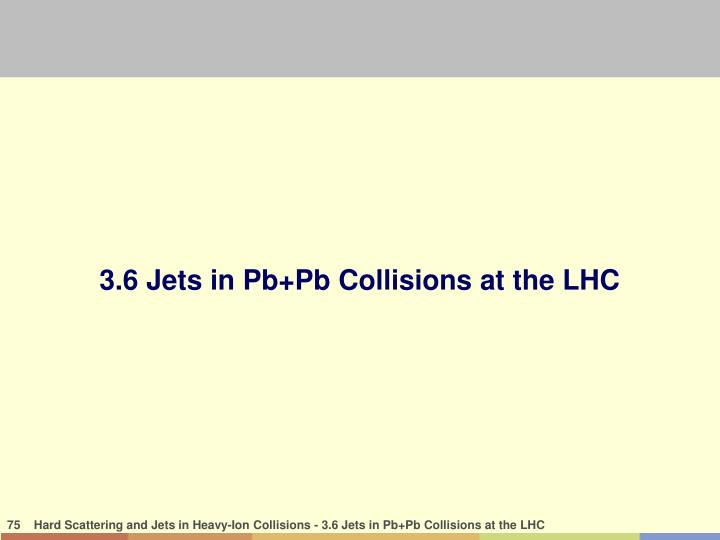 3.6 Jets in Pb+Pb Collisions at the LHC