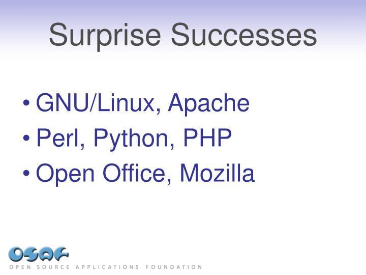Surprise Successes