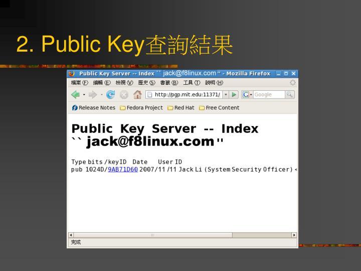 2. Public Key