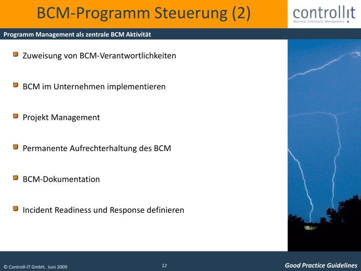 BCM-Programm Steuerung (2)