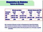 diagn stico da diabetes valores da glicemia