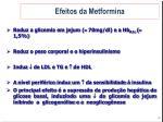 efeitos da metformina