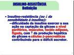 insulino resist ncia defini o