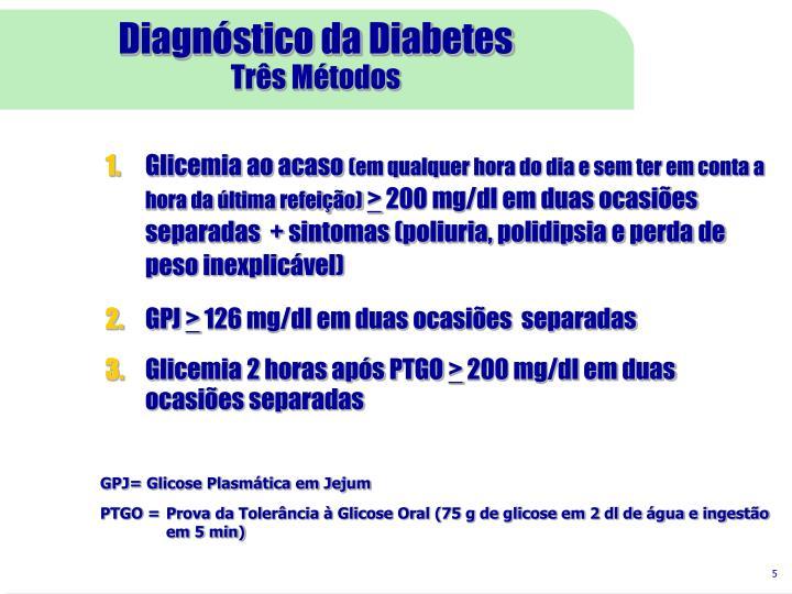 Diagnóstico da Diabetes