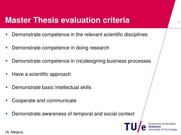 criteria for evaluating a thesis manuscript