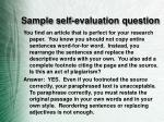 sample self evaluation question
