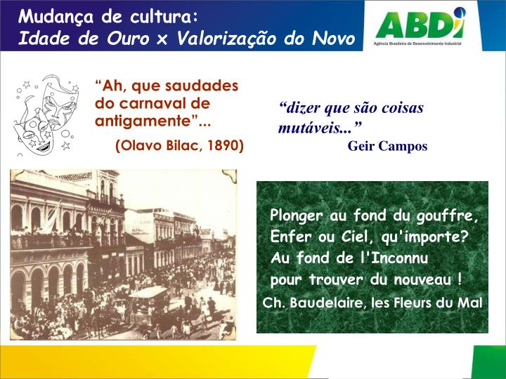 Mudança de cultura:
