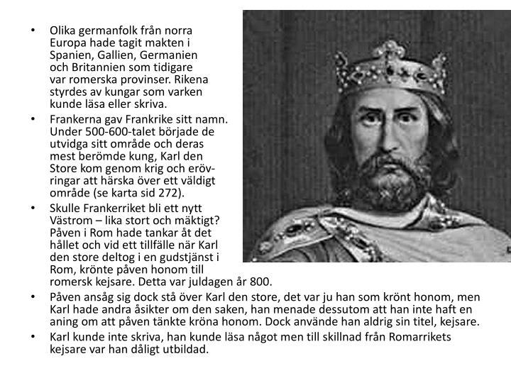 Olika germanfolk frn norra