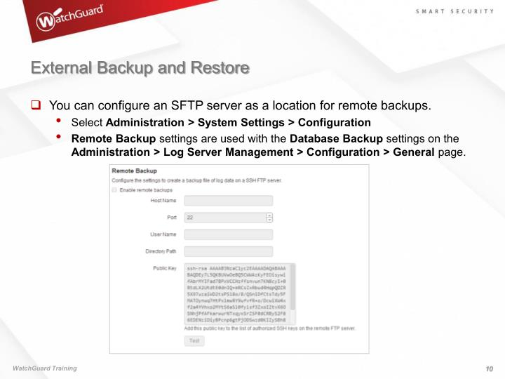 External Backup and Restore