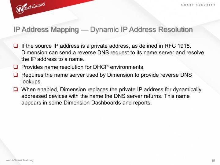 IP Address Mapping — Dynamic IP Address Resolution