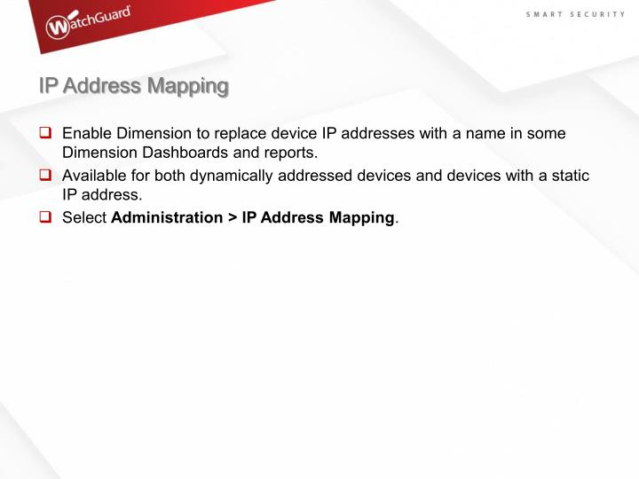 IP Address Mapping