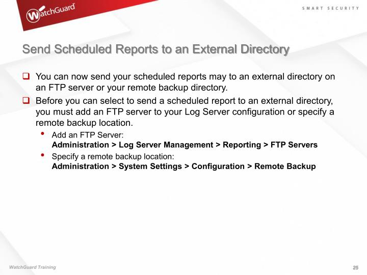Send Scheduled Reports to an External Directory